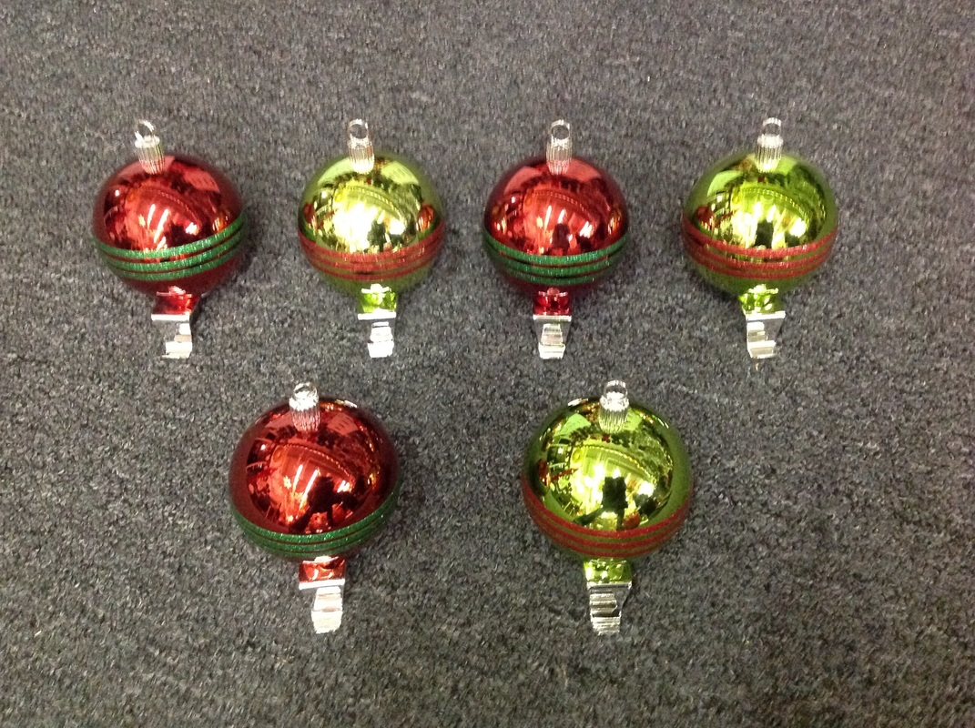 Christmas ornament holders - Ornament Ball Stocking Holders 5 Tall 3 Of Each Available
