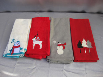 Orted Holiday Kitchen Towels 2 Penguin Reindeer Snowman 1 Tree Available